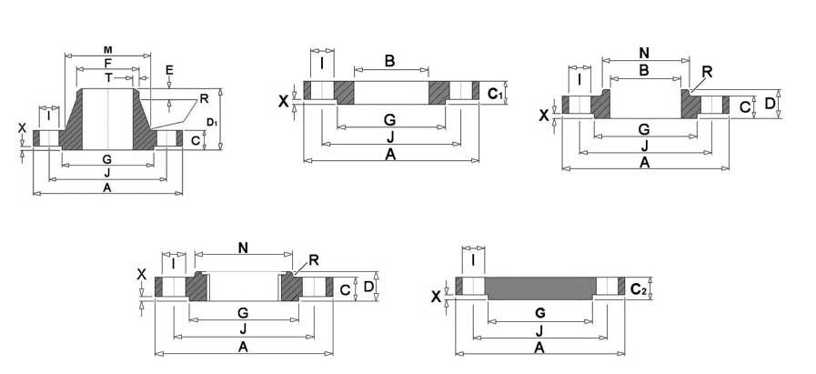BS 4504 PN6 Flange Dimensions