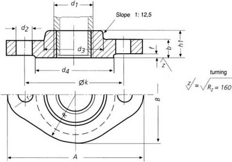 DIN 2558 Flange Dimensions