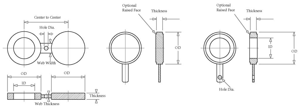 Spectacle Blind Flange Dimensions