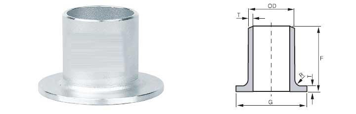 Buttweld Lap Joint Stub End Dimensions
