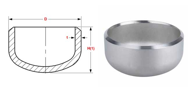 Buttweld Pipe End Cap Dimensions