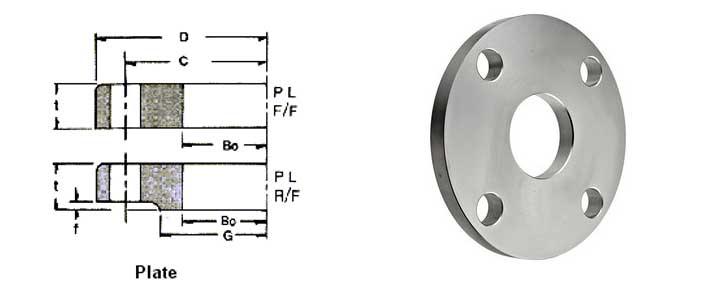 JIS 5K Plate Flang Dimensions