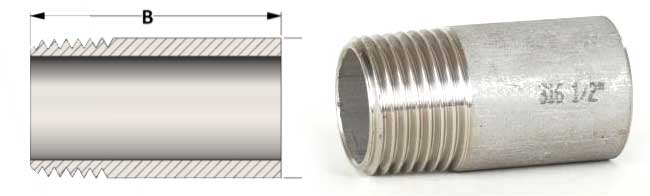 Threaded Pipe Nipple Dimensions