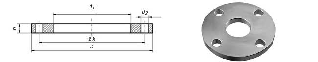 PN16 Plate Flange Dimensions